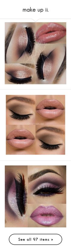 """make up ii."" by captainsassy92 ❤ liked on Polyvore featuring beauty products, makeup, eye makeup, eyeshadow, lip makeup, eyes, lips, beauty, eye brow makeup and nude cosmetics"