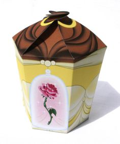 Beauty and the Beast  Inspired Belle LARGE Gift Box by Shnookers, $5.00
