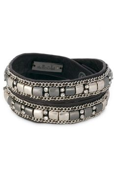 Baby soft leather with fantastic beaded details | Cady Wrap Bracelet from Stella & Dot, $59