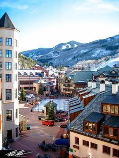 View into Market Square -site of engage!14 Welcome Party - Beaver Creek, Colorado