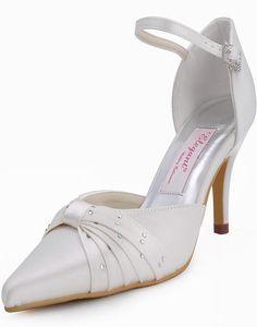 Snygg nya presale diamant satin bröllop skor med hög klack aftonskor bröllop EP1104