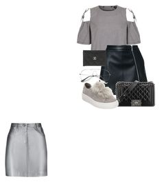 """""""Untitled #61"""" by franciscanunes on Polyvore featuring Topshop, Pierre Balmain, Guild Prime, Chanel and Steve Madden"""