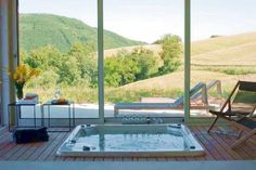 Jacuzzi with a beautiful view
