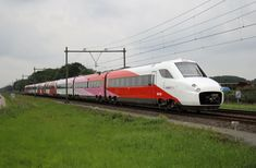 Beautiful Ansaldobreda Fyra High Speed train for NS Hi-Speed