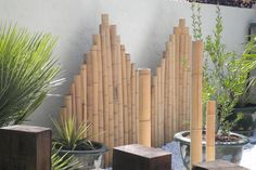 Des panneaux de bambou pour un jardin de style japonais - Journal des Femmes Jardin