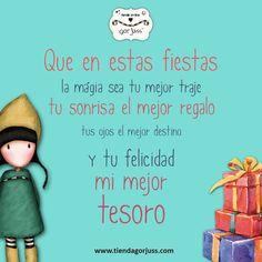 ¡¡Felices Fiestas a tod@s!! #gorjuss #felicesfiestas #fiestas #felicidad #sonrisa #tesoro #magia