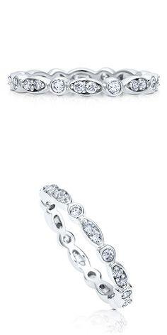 Sterling Silver CZ Wedding Anniversary Eternity Band Ring #R393