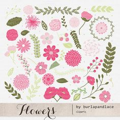 Check out Flower clipart by burlapandlace on Creative Market