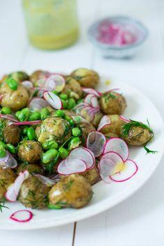 new potato salad with dijon vinaigrette