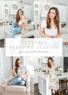 Lifestyle Branding Session for Creative Business Owners InHome Session Natural Light Photography Camera Settings Laurenda Marie Photography Grand Rapids Michigan
