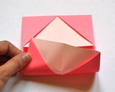 How About Orange: How to make an origami business card holder