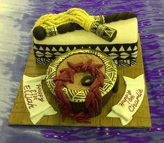 Samoan inspired birthday cake Old Man Birthday, Birthday Ideas, Birthday Cake, Tongan Food, Island Cake, Designer Cakes, Theme Cakes, Big Cakes, Cake Creations