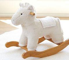 white wood pbk nursery horse rocker baby nursery cool bee animal rocking horse