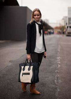 The Front Row View: Street Style: Models Love Céline's Boston Bag