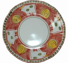 Vietri Campagna Mucca (Cow) Dinner Plate