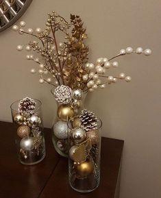 Cheap Christmas Home Decoration Weihnachten Cheap Christmas, Elegant Christmas, Beautiful Christmas, Simple Christmas, Christmas Crafts, Christmas Ornaments, Cozy Christmas, Christmas Ideas, Ornaments Ideas