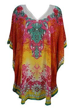 588a9e48da397 Womens Short Caftan Georgette Beach Kimono Red Kaftan Dress One Size Short  Kaftan Dress