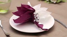 pliage de serviette en papier pour mariage - YouTube