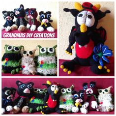 Grandma made these awesome stuffed animals for the kids - that is real talent!