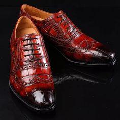 Alligator Brogue Wingtip Dress Shoes Suede Leather Shoes, Leather Men, Dress With Boots, Dress Shoes, Mens Business Shoes, Lace Up Shoes, Casual Shoes, Oxford Shoes, Shoes Men