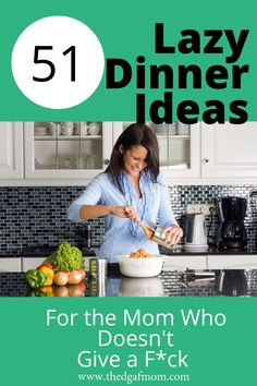 Lazy Dinner Ideas for When You CANNOT Deal With Dinner - What's for dinner tonight? These lazy dinner ideas can help you figure it out and throw something - Fast Dinners, Quick Meals, Weeknight Meals, Quick Family Dinners, Simple Meals, Freezer Meals, Easy Dinner Recipes, Dinner Ideas, Ideas For Dinner Tonight