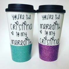 Greys Anatomy Gift Set - Cristina to my Meredith - BFF Gift - Best Friend Gift - Friend Christmas Gift - Gift for her - meredith grey Gift by RichBrokeBtq on Etsy https://www.etsy.com/listing/503883961/greys-anatomy-gift-set-cristina-to-my