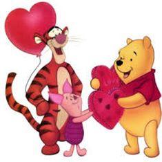 Winnie the Pooh Valentine Day Card Winnie The Pooh Cartoon, Winnie The Pooh Friends, Valentine Picture, Valentine Day Love, Pooh Bear, Tigger, Eeyore, Disney Valentines, Valentines Day Greetings