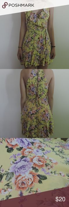 Forever 21 yellow sun dress Never worn, comfortable and flowy Forever 21 Dresses Midi