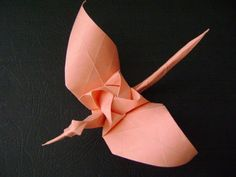 Origami Crane with a rose behind the scheme Kamiya Satoshi