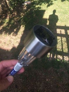 """A quick way to add lighting to your deck (with no wiring!) I got a load of these """"At Home"""" (the store).  I chose the stainless steel tops for the contrasting lo…"""