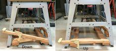 Retractable casters for shop tools