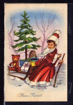 Cartolina Buon Natale Illustratore Cillo Edizioni SAEMEC S/149 YA72