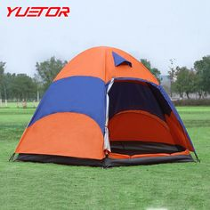 54.46$  Watch now - http://alizo1.worldwells.pw/go.php?t=32750031497 - Brand YUETOR double layer traveling  tents for 3-4 people waterproof barraca de acampamento for hiking beach camping tent 54.46$