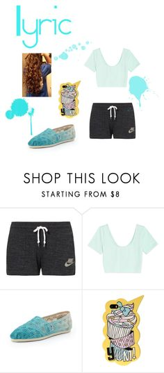 """Lyric's Outfit Chapter 9"" by lyric-denali ❤ liked on Polyvore featuring NIKE, Forever 21, TOMS, women's clothing, women, female, woman, misses and juniors"