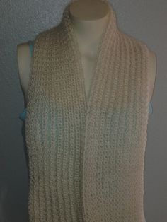 Hand knit scarf lace scarf by BiziKnitting4You on Etsy