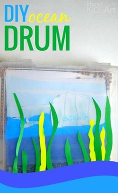 DIY Ocean Drum. Combine science and art for this sensory activity to explore ocean sounds.