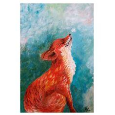 Fox Painting, Acrylic Painting Animals, Fox Tattoo Design, Original Artwork, Original Paintings, Fox Drawing, Acrilic Paintings, Pretty Animals, Animal Sketches