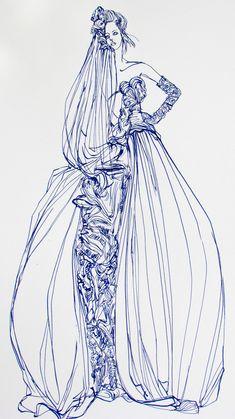 custom Bridal drawings