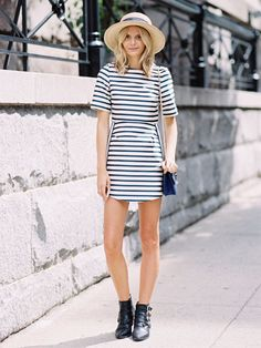 How to Pull Off the Nautical Look This Weekend via @WhoWhatWear