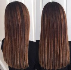 Image result for dark brown hair with caramel highlights straight hair