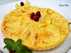 Receta Tarta sencilla de manzana (sin azúcar)