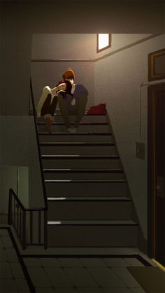 uneven stairs illustration by Pascal Campion - http://www.pascalcampion.com/