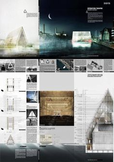 The double-skin solution - Theatre Architecture Competition 2015 Honourable Mentions Operation Theatre - Quang Le and Lien Hoang Phuong, Switzerland & Vietnam 點擊瀏覽下一頁 Theatre Architecture, Architecture Design, Architecture Presentation Board, Famous Architecture, Architecture Panel, Presentation Layout, Architecture Graphics, Architecture Drawings, Project Presentation