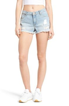 Free shipping and returns on BP. Ripped Denim Cutoff Shorts (Light Indigo) at Nordstrom.com. Ripped patches and shredded hems bring vintage-cool vibes to these light-wash denim shorts that are sure to be on repeat when the weather starts to warm.