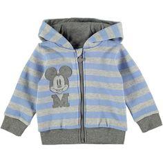 Disney Baby Boy Mickey Mouse Striped Hoody Jacket Grey