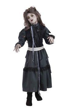 Creepy Scary Costume Zombie Girl Large