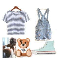 """Already Can't wait til summer!"" by guidian ❤ liked on Polyvore featuring Converse, Moschino, women's clothing, women, female, woman, misses and juniors"