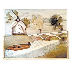 Dutch Windmill Intarsia Project Pattern