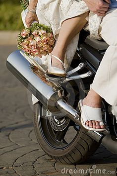Bride And Groom On Motorcycle | Bride And Groom On Motorbike Stock Photography - Image: 14783632