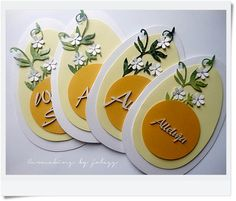 Diy Easter Cards, Easter Crafts For Kids, Diy And Crafts, Paper Crafts, Flower Cards, Greeting Cards Handmade, Happy Easter, Cardmaking, Gifts
